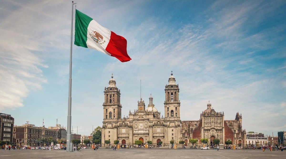 Vista de la plaza del Zócalo en CDMX