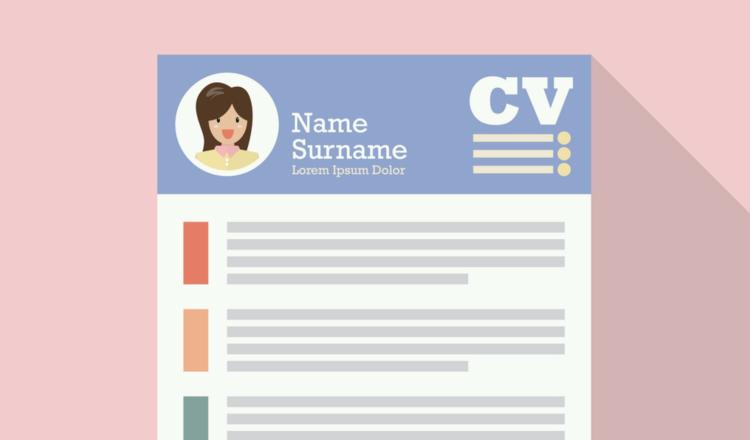 Ilustración de un currículum vitae