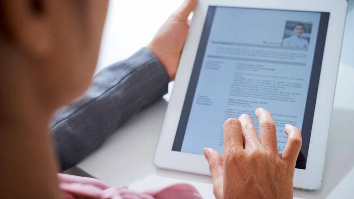 Currículum vitae de forma virtual